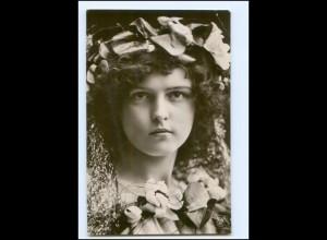 Y12395/ junge Frau mit Kopfschmuck Foto AK 1907