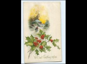 Y12396/ Seidenwebung AK Christmas ca.1910