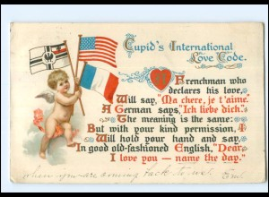 Y12223/ Cupid`s International Love Code - Litho AK Amor 1910