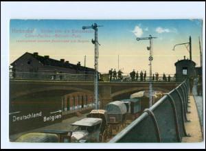 Y12197/ Herbesthal Grenze Deutschland - Belgien Eisenbahn AK 1916