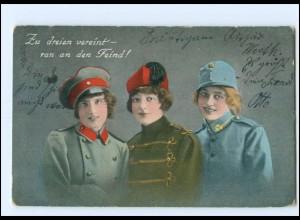 Y12199/ Frauen in Uniform 1. Weltkrieg AK 1915 Türkei