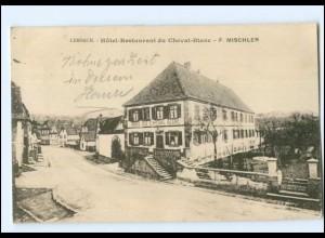 U6654/ Lembach Elsaß Hotel Cheval-Blanc AK 1922