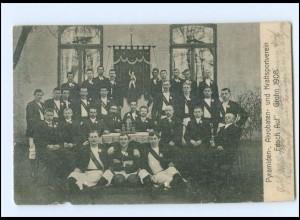 """Y12142/ Bremen Grohn Kraftsportverein """"Frisch Auf"""" 1908 AK"""