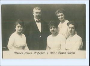 Y12166/ Damen Salon-Orchester Dir. Franz Weiss, Foto AK ca.1912