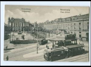 U6616/ Straßburg Place Kleber Straßenbahn AK ca.1910