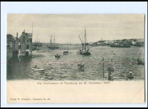 U6681/ Flensburg Sturmflut Hochwasser 1904 AK