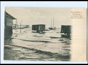 U6679/ Flensburg Sturmflut Hochwasser 1904 AK