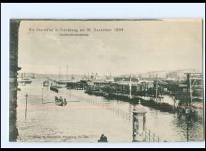 U6678/ Flensburg Sturmflut Hochwasser 1904 AK