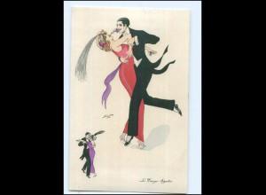 U7505/ Xavier Sager Le Tango - Argentin AK 1916 Jugendstil