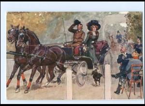 Y12184/ Kutsche Künstler AK Ludwig Koch ca.1910