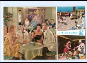 Y12460/ Dampfer Nordd. Lloyd Leben an Bord Life on Board AK ca. 1965