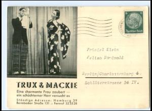 Y12156/ Zauberer Variete Trux & Mackie aus Hamburg AK
