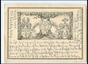 Y12187/ Familie Willich Wappen Heraldik AK 1937