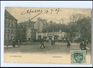 XX008863/ Hamburg Bahnhofplatz AK 1907