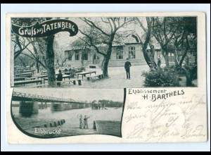 XX005267/ Hamburg Gruß aus Tatenberg Barthels Etablissement AK 1901