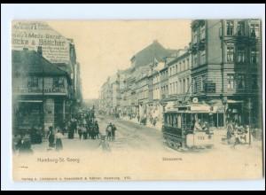 XX004807/ Hamburg St. Georg Steindamm Straßenbahn AK ca.1900
