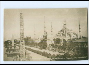 XX005096/ Constantinople Place Sultan-Ahmed , Moschee Foto AK Türkei ca.1910