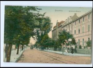 XX004689/ Graudenz Schützen-Straße Straßenbahn AK 1907