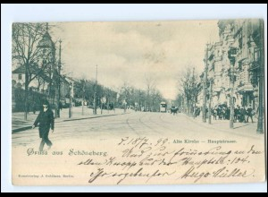 XX004697/ Berlin Schöneberg Hauptstr. Straßenbahn AK 1899