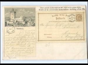XX5290/ Rudelsburg älteste gedrucke Ansichtskarte Postkarten-Ausstellung 1899 AK