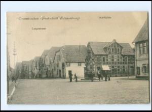 XX005263-3063/ Obernkirchen Langestr., Marktplatz AK 1907