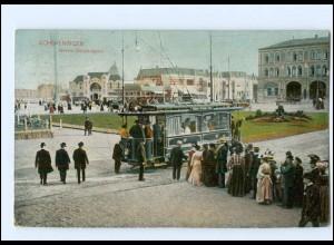 XX005143/ Scheveningen Gevers Deijmootplein Straßenbahn AK 1907