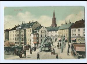 XX005148-7910/ Neu-Ulm Straßenbahn AK 1909