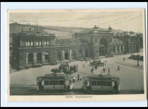XX005135/ Trier Bahnhof Straßenbahn AK 1930