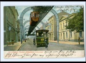XX005132/ Wuppertal Barmen Elberfeld Straßenbahn Schwebebahn AK 1904