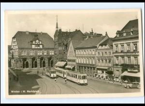XX005130/ Minden Marktplatz Straßenbahn Foto AK 1940