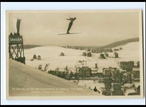 XX005120/ Skispringen Marktigelschanze in Laucha Foto AK 1932
