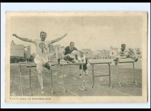 XX005115/ Rau in einem 100 Meter Hürdenlauf AK ca.1920 Sport