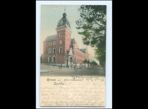 XX005154-995/ Gruß aus Apolda Postamt mit Bahnhofstr. AK 1900