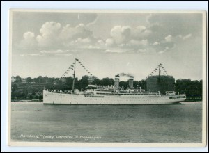 Y12244/ Hamburg Hapag Dampfer Oceana in Flaggengala AK 1933