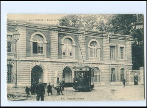 Y12389/ Maubeuge Tramway Straßenbahn AK ca.1914