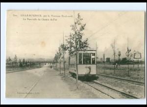 Y12388/ Lille - Roubaix Tramway Straßenbahn AK 1914
