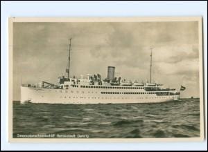 Y12328/ Dampfer Hansestadt Danzig Foto AK ca.1935