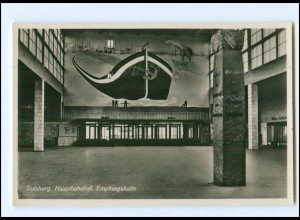 Y12515/ Duisburg Hauptbahnhof Empfangshalle Foto AK