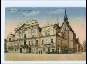 Y12590/ Güstrow Markt mit Rathaus 1918 AK