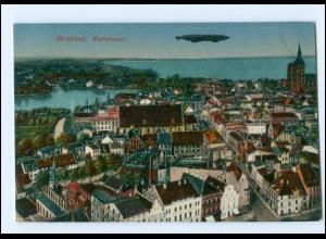 Y12591/ Stralsund Panorama Zeppelin AK