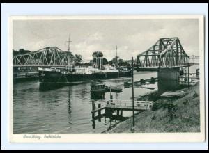 Y12531/ Rendsburg Drehbrücke 1957 AK