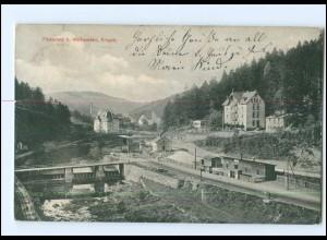 Y12770/ Wolkenstein Erzgeb. Flossplatz, Bahnhof AK 1911