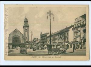 Y12507/ Hagen Kölnerstraße am Bahnhof 1921 AK
