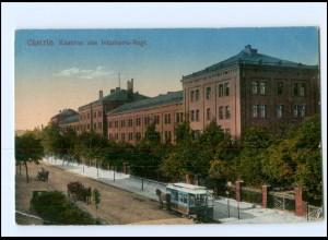 U6714/ Küstrin Cüstrin Kaserne Pferdebahn AK 1916