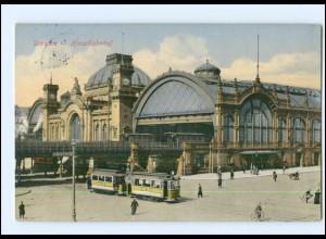 Y12571/ Dresden Hauptbahnhof Straßenbahn 1913 AK