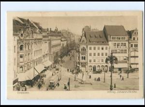 Y12572/ Dresden König Johann-Straße Straßenbahn 1920 AK