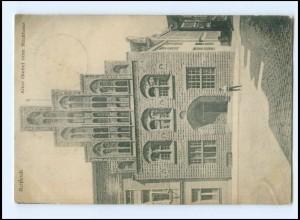 Y12582/ Rostock Alter Giebel vom Stadthaus 1918 AK