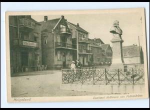 Y12564/ Helgoland Denkmal Hoffmann von Fallersleben AK