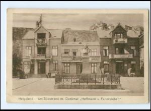 Y12563/ Helgoland Am Südstrand mit Denkmal 1926 AK