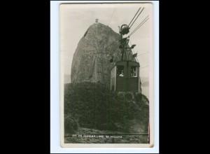 Y12347/ Rio de Janeiro Brasilien Pac de Aussucar Seilbahn Foto AK 1938